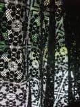 Beautiful Black Genuine British Nottingham Cluny Cotton Lace Fabric03 2m x 1.3m